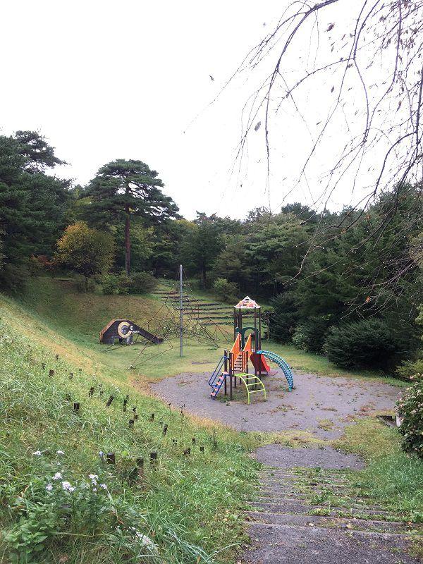 伊香保温泉 上ノ山公園 わんぱく広場 遊具