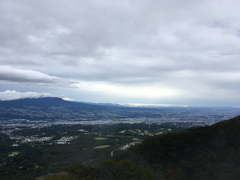 伊香保温泉 上ノ山公園 ときめきデッキ 展望台 眺め1