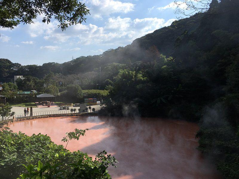 別府温泉 血の池地獄2