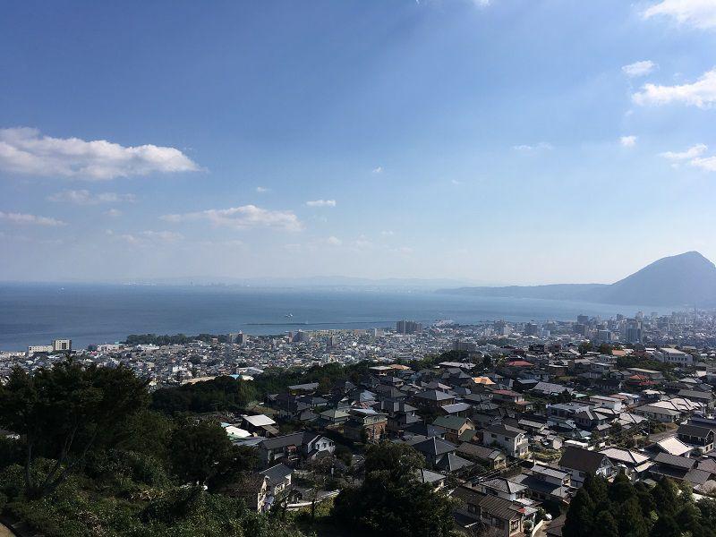 別府温泉 貴船城からの眺め2