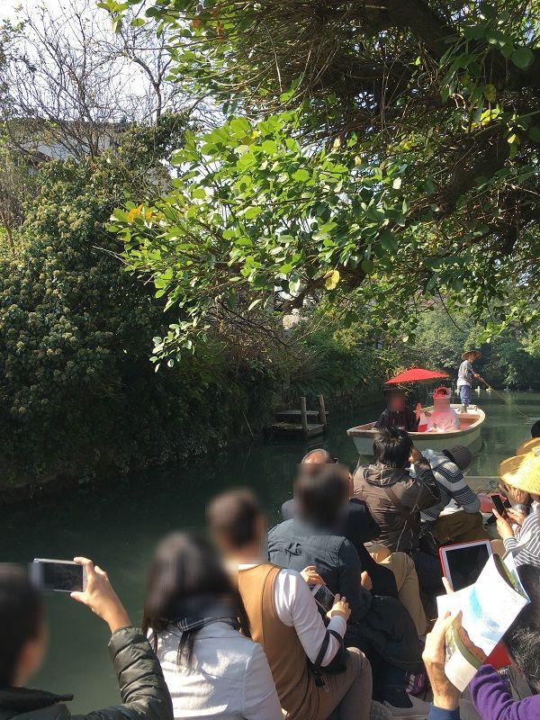 柳川 川下り 結婚式 花嫁舟1