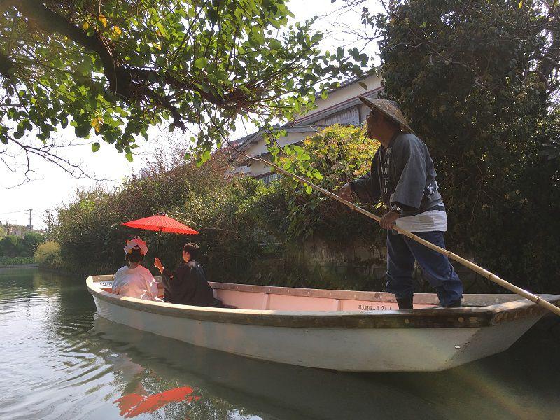 柳川 川下り 結婚式 花嫁舟3