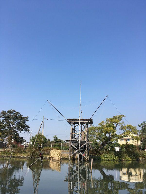 柳川 川下り 網 仕掛け