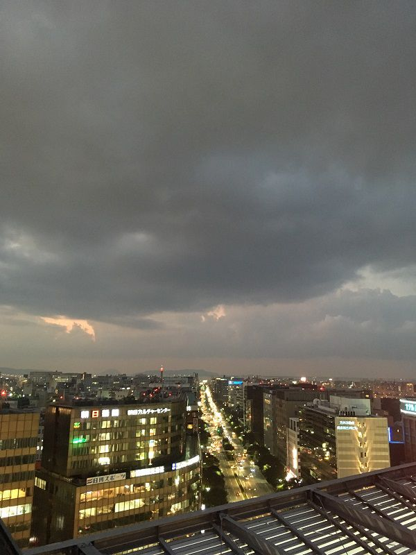 JR博多シティ 屋上 つばめの杜ひろば 展望テラスからの眺め1