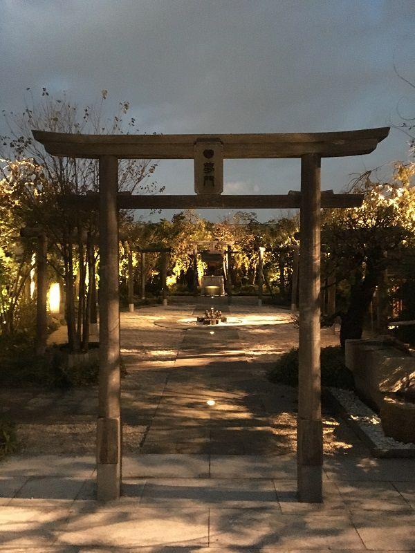 JR博多シティ 屋上 つばめの杜ひろば 鉄道神社1