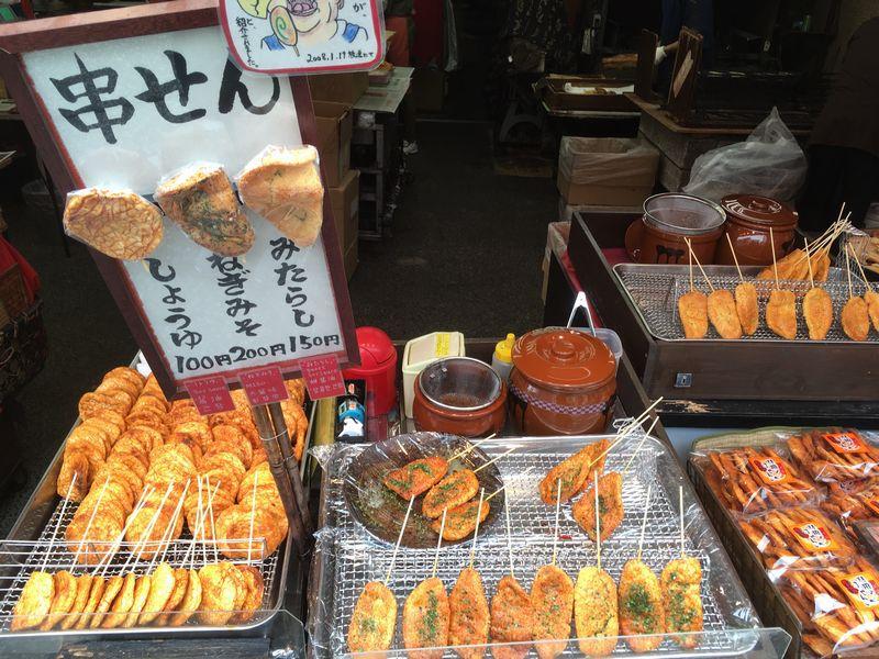 成田山新勝寺 表参道 串せん 煎餅