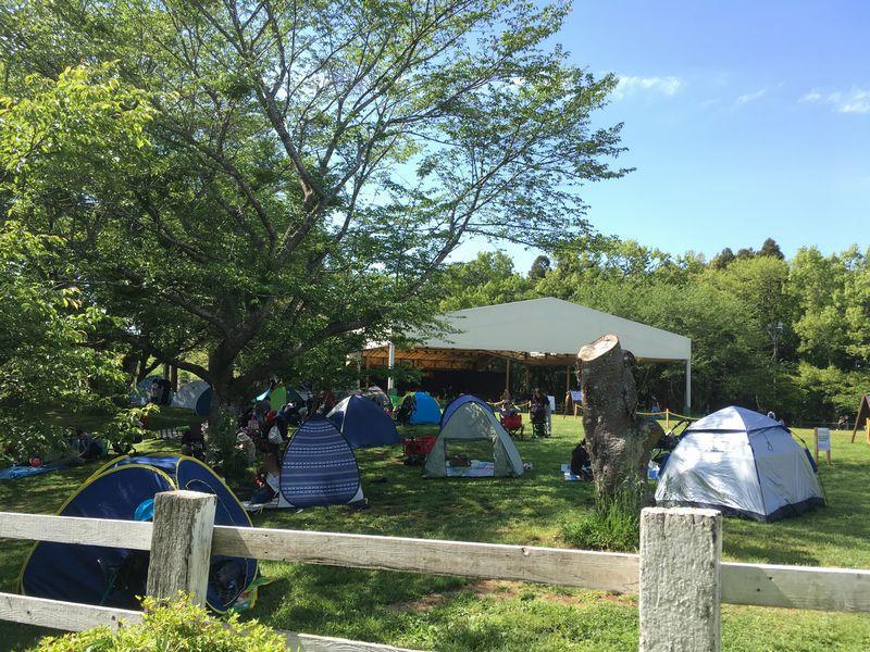 成田ゆめ牧場 キャンプ テント