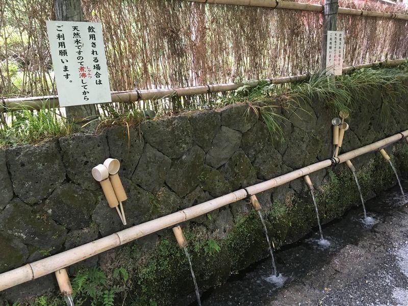 富士宮 富士山本宮浅間大社 水屋神社 富士山御霊水 飲用
