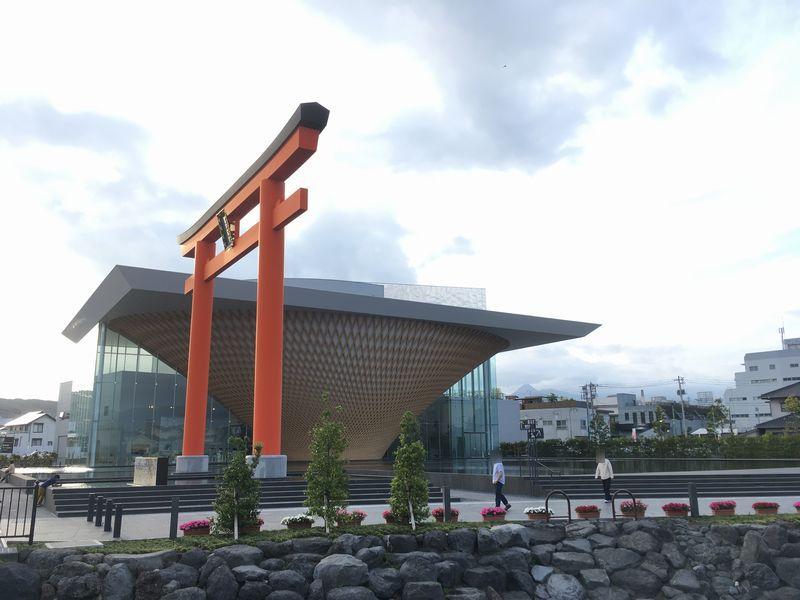 富士宮 静岡県富士山世界遺産センター 一之鳥居 大鳥居