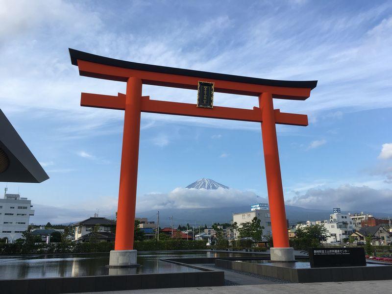 富士宮 静岡県富士山世界遺産センター 富士山本宮浅間大社 一之鳥居 大鳥居 富士山