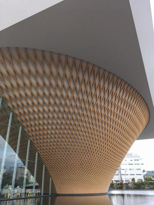 富士宮 静岡県富士山世界遺産センター 外壁 建築