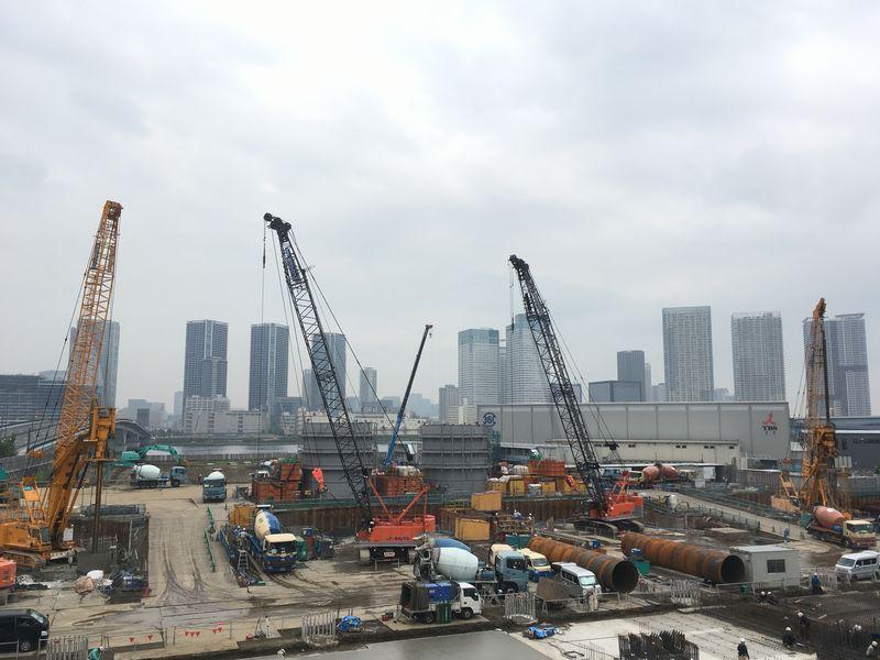 豊洲市場 周辺 工事