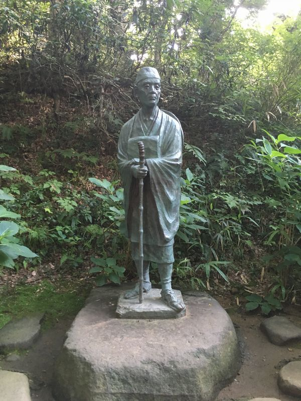 平泉 中尊寺 松尾芭蕉 銅像
