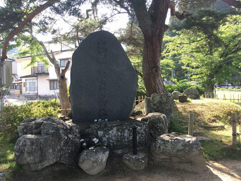 平泉 武蔵坊弁慶大墓碑