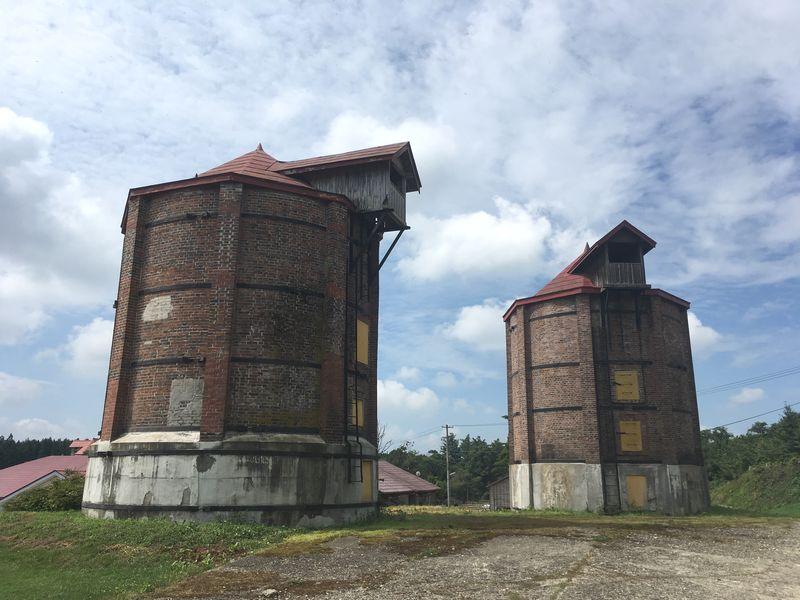 小岩井農場 上丸牛舎 レンガサイロ