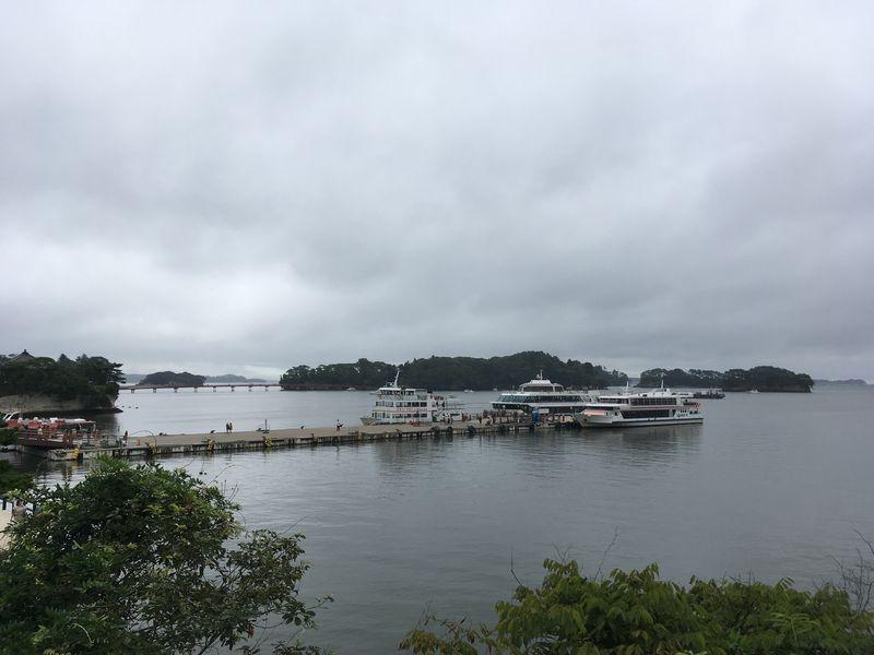 松島 観瀾亭からの眺め 観光船 遊覧船乗り場