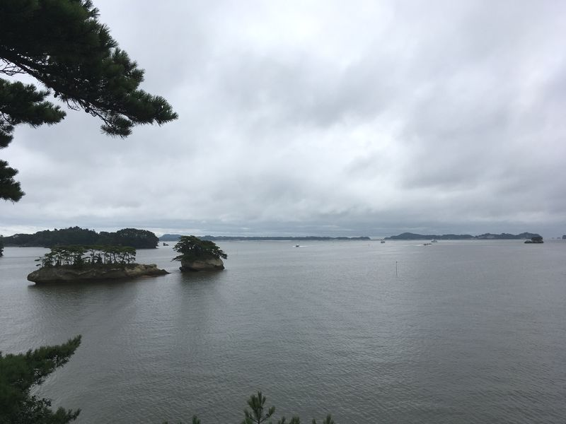 松島 雄島からの景色 双子島 亀島 鯨島