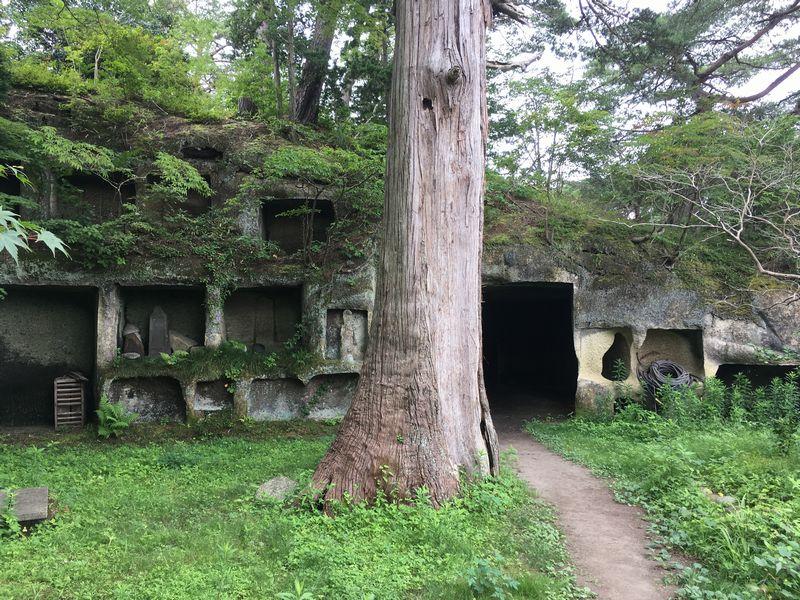 松島 雄島 岩窟 トンネル