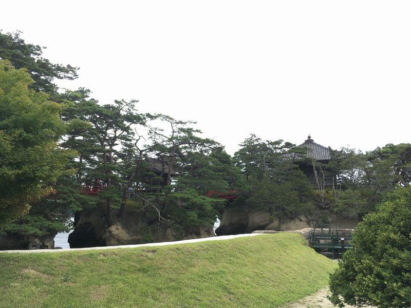 松島 五大堂 透かし橋 縁結び橋