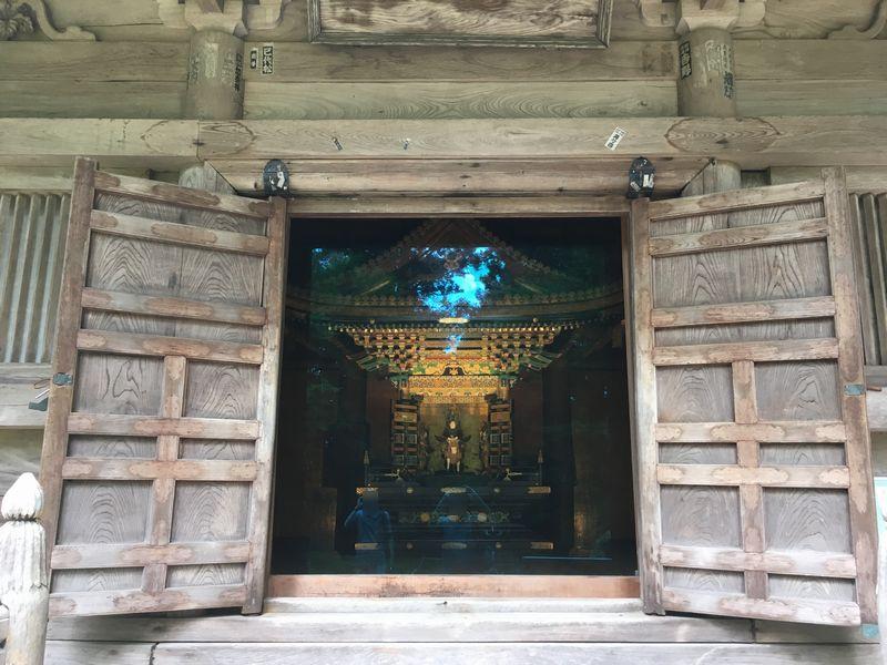 松島 円通院 三慧殿 宮殿型厨子 馬上束帯光宗像