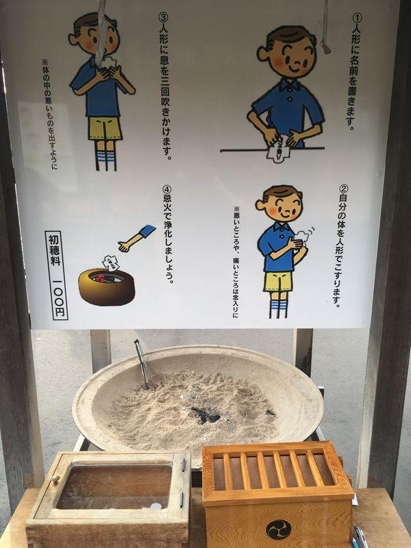 盛岡八幡宮 人形 忌火 浄化