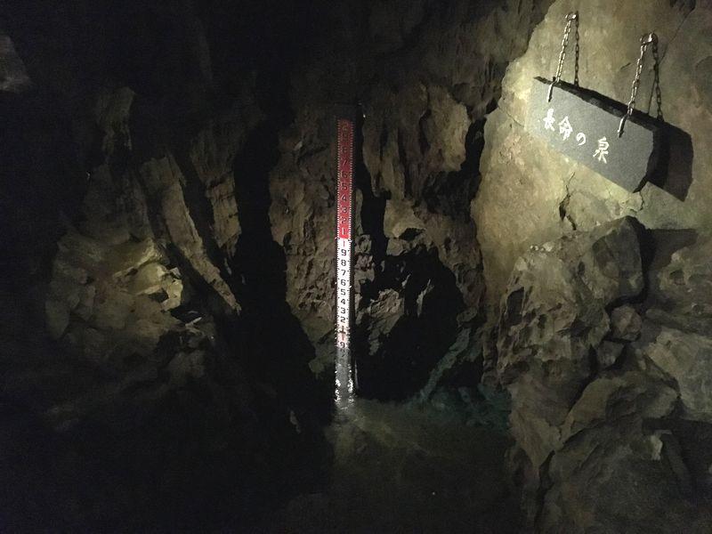 龍泉洞 鍾乳洞 長命の泉