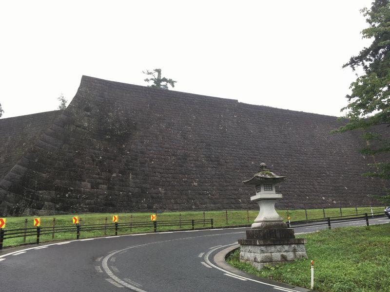 仙台城 青葉城 本丸北壁石垣