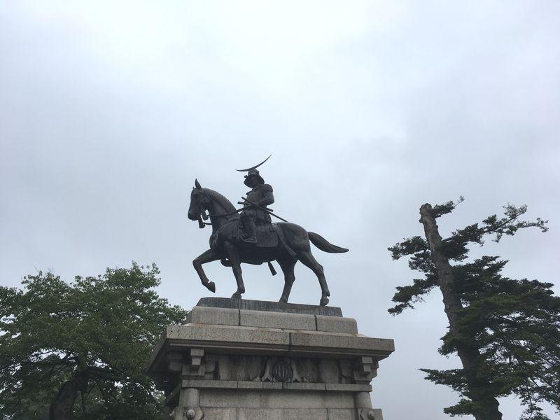 仙台城 青葉城 伊達政宗騎馬像