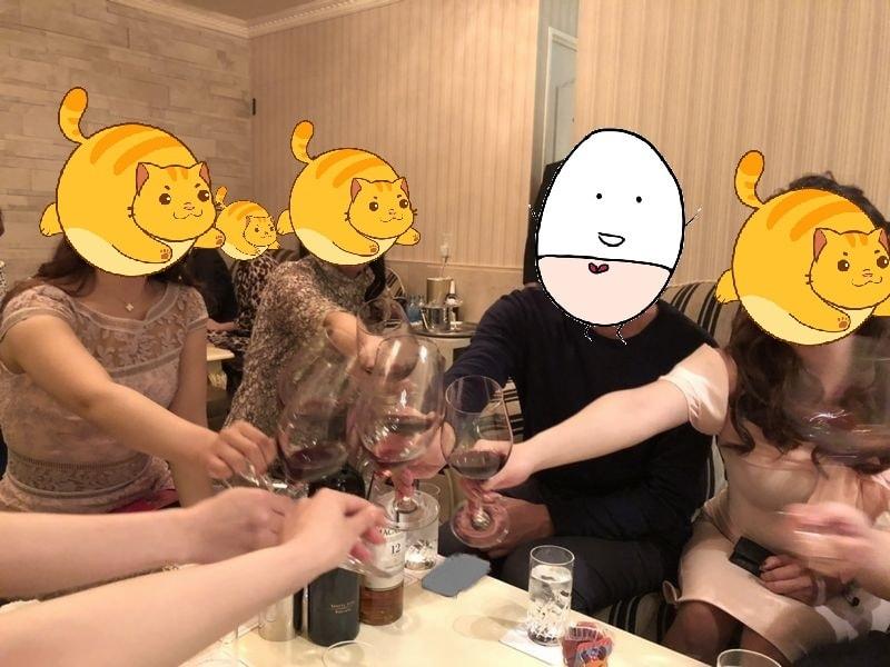 銀座 高級クラブ 赤ワイン 乾杯