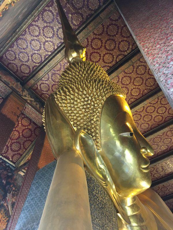タイ バンコク ワット・ポー 釈迦仏堂 大寝釈迦仏 天井