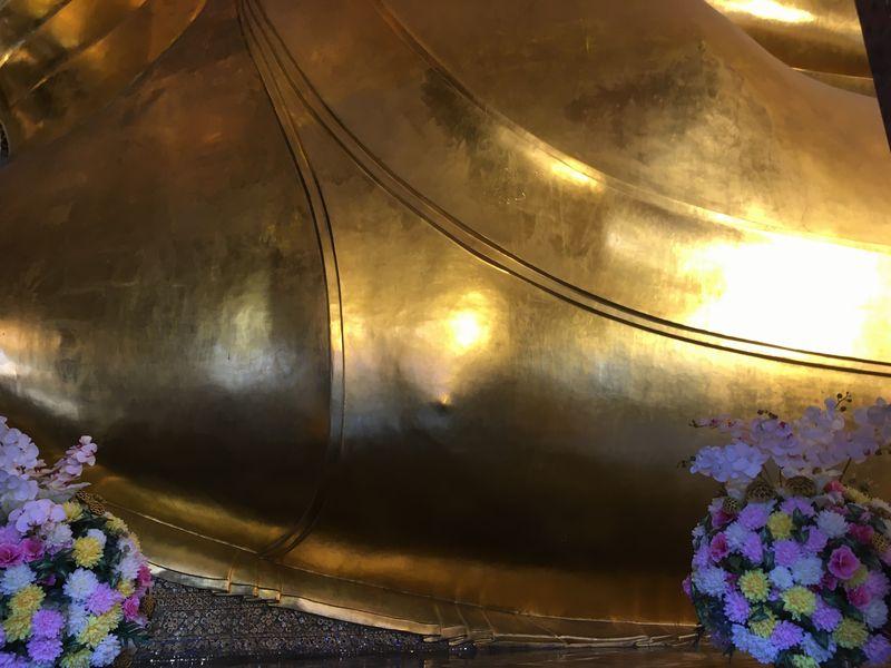 タイ バンコク ワット・ポー 釈迦仏堂 大寝釈迦仏 乳首