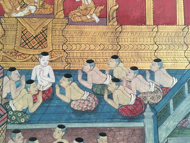 タイ バンコク ワット・ポー 釈迦仏堂 壁画