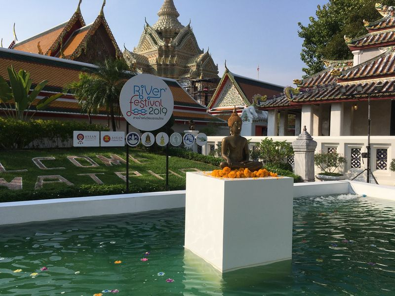 タイ バンコク ワット・ポー River festival 2019 仏像