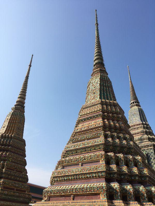 タイ バンコク ワット・ポー 仏塔 ラーマ