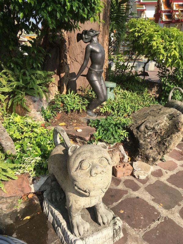 タイ バンコク ワット・ポー 像