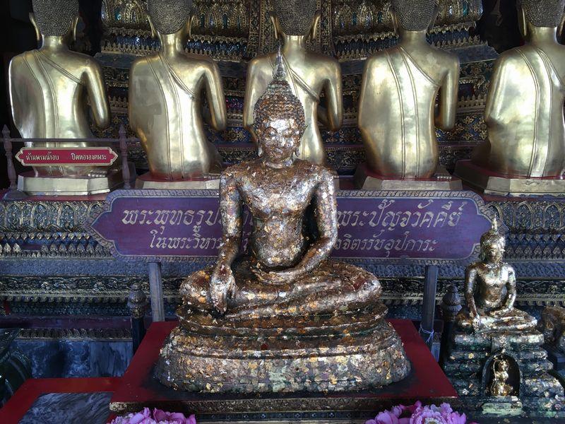 タイ バンコク ワット・ポー 仏像 金箔