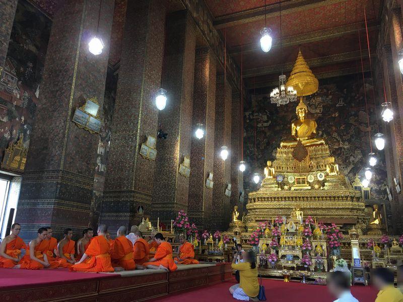 タイ バンコク ワット・ポー 本堂 仏像 座釈迦像