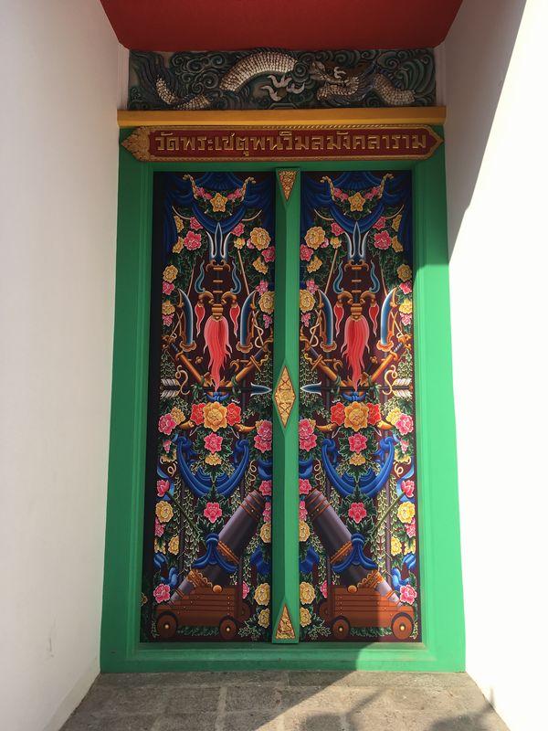 タイ バンコク ワット・ポー ドア