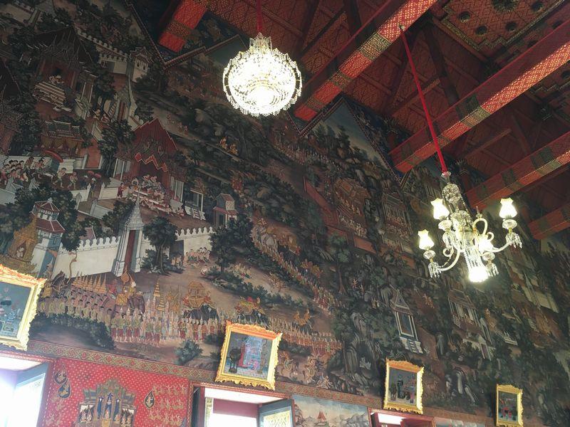 タイ バンコク ワット・アルン 本堂 壁画