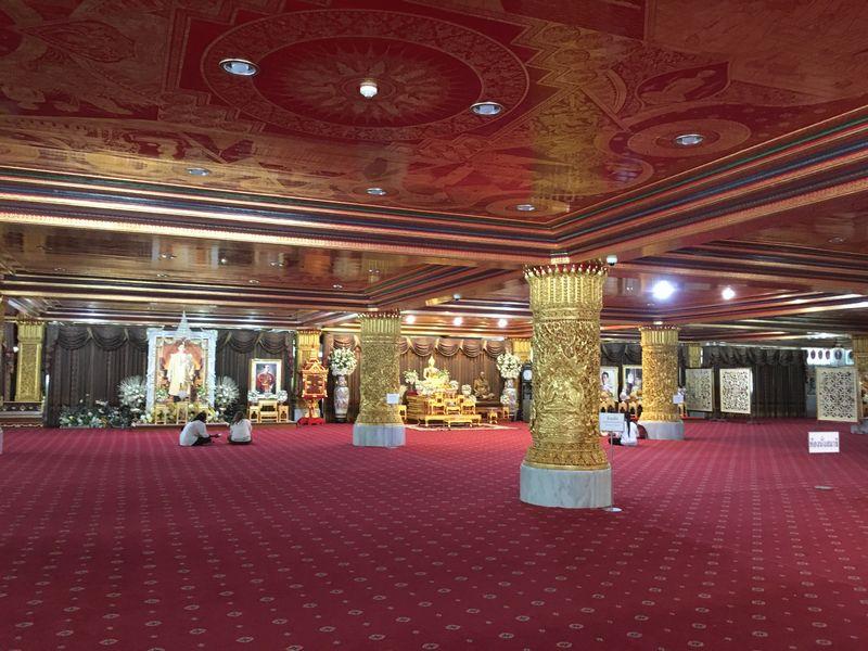 タイ バンコク ワット・パクナム 大仏塔 2階 タンクナーロム室 儀式行事 会議 瞑想 ホール