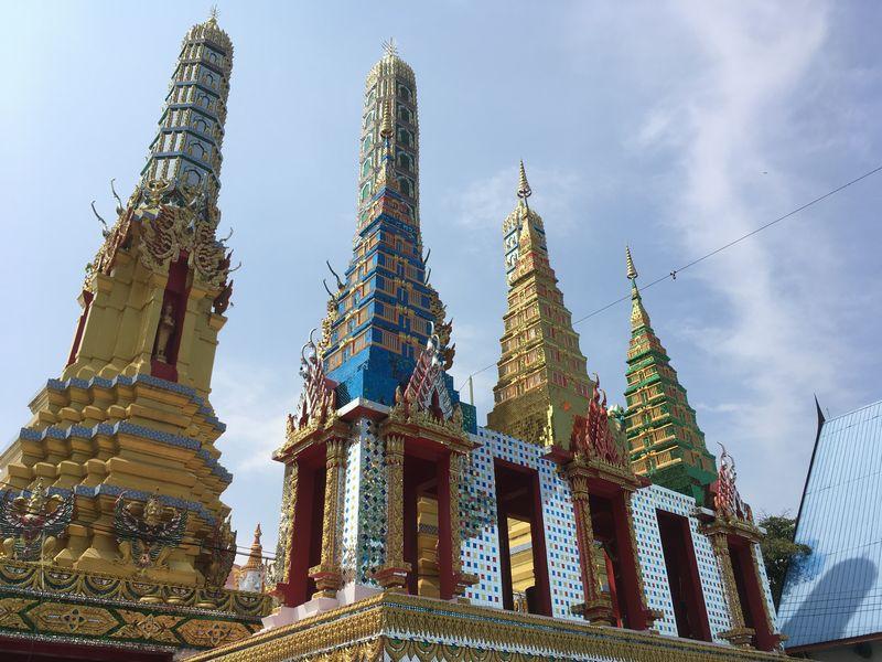 タイ バンコク ワット・クンチャン 仏塔