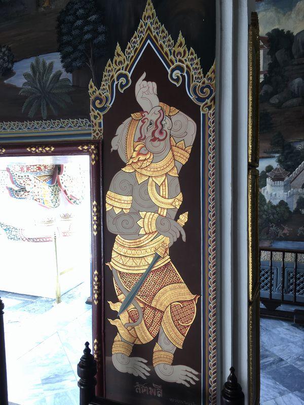 タイ バンコク ワット・プラケオ 壁画
