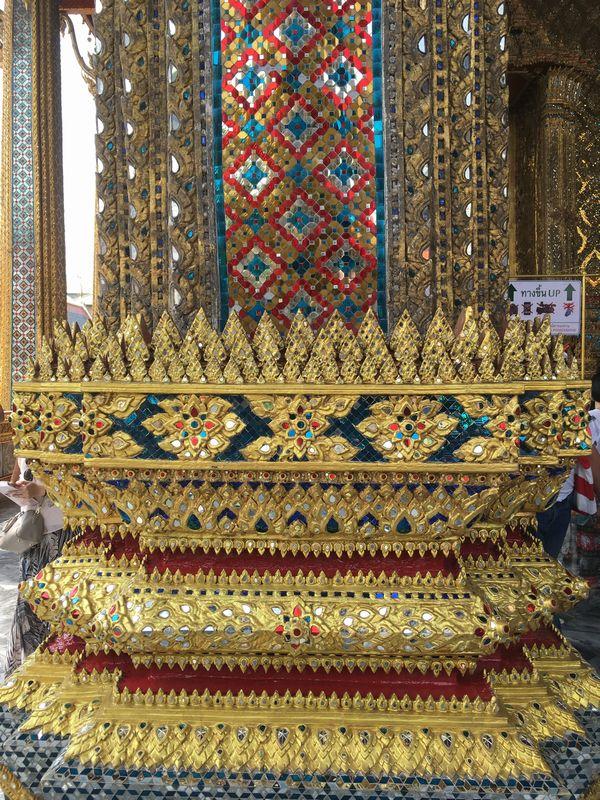 タイ バンコク ワット・プラケオ 本堂 装飾