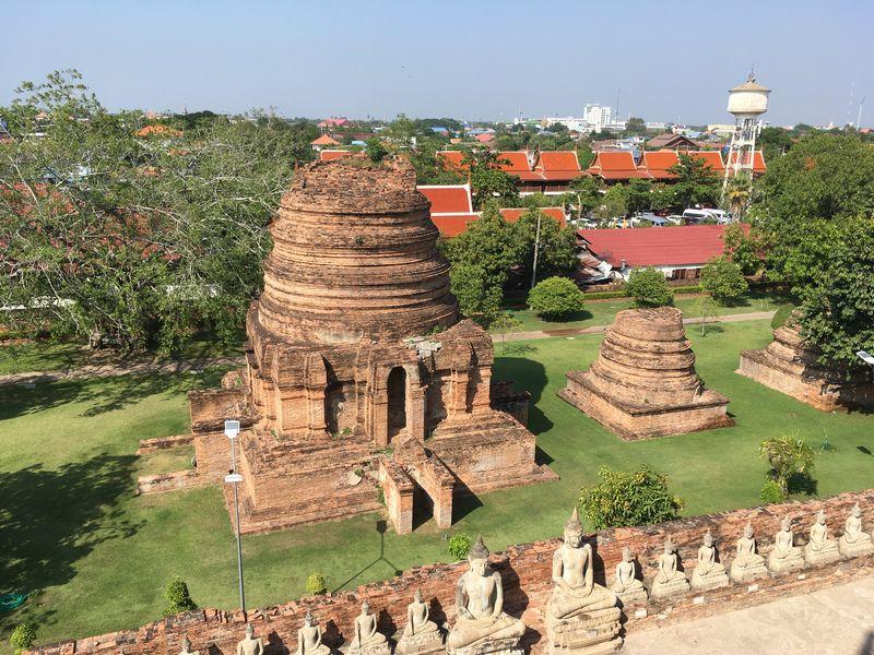 タイ アユタヤ遺跡 ワット・ヤイ・チャイ・モンコン 仏塔