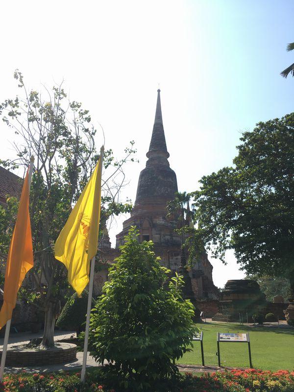 タイ アユタヤ遺跡 ワット・ヤイ・チャイ・モンコン 大仏塔