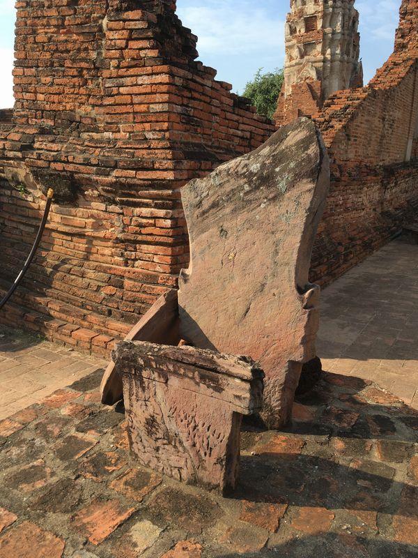 タイ アユタヤ遺跡 ワット・マハタート 結界石 バイセーマ