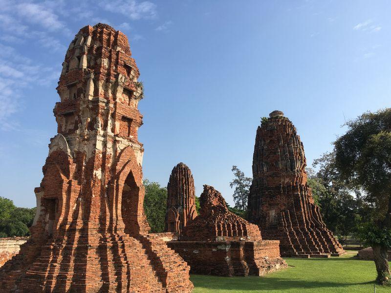 タイ アユタヤ遺跡 ワット・マハタート クメール様式 仏塔