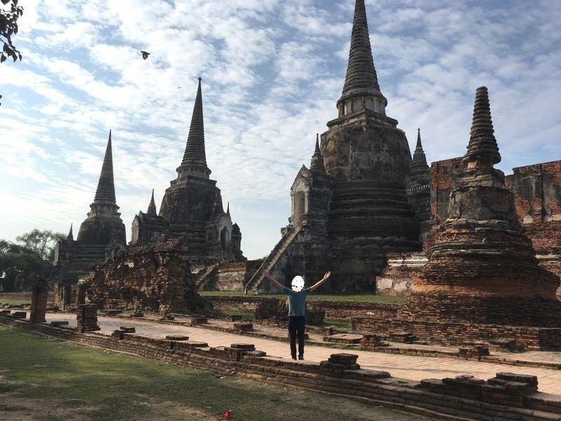 タイ アユタヤ遺跡 ワット・プラ・シーサンペット 仏塔