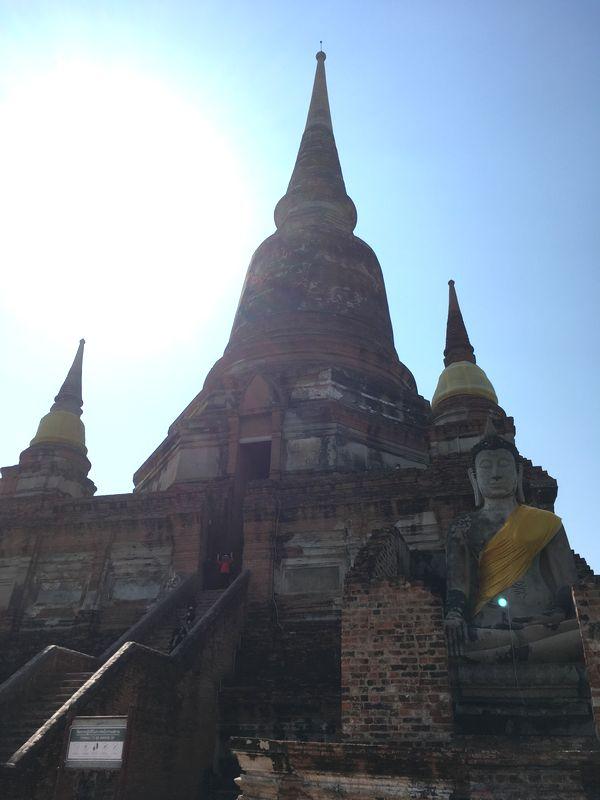タイ アユタヤ遺跡 ワット・ヤイ・チャイ・モンコン 大仏塔 仏像