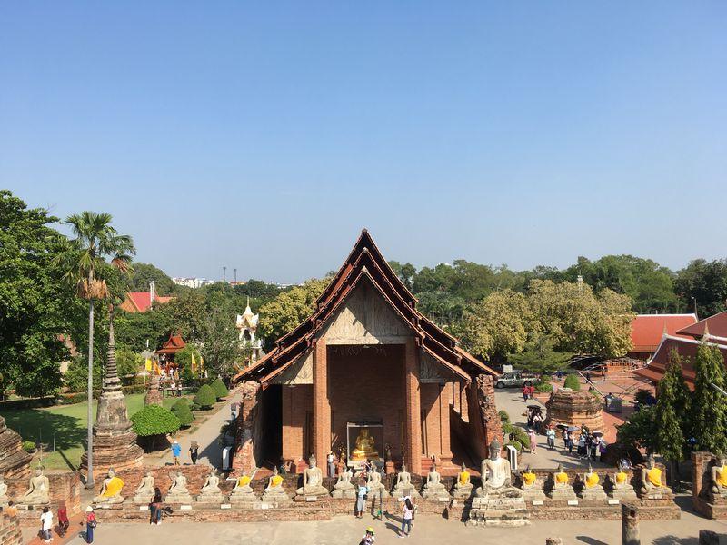 タイ アユタヤ遺跡 ワット・ヤイ・チャイ・モンコン 仏像